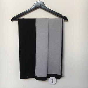 Lululemon Vinyasa Scarf, new with tags. Black/grey